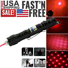 New listing Tactical 650nm 200Miles Red Laser Pointer Pen Single Point Star Pattern Lazer