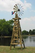 """47"""" DIY Head Kit For 15' Decorative Windmill, Galvanized Blades, Made in Texas"""