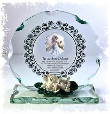 Girls First Holy Communion Treasured Keepsake glass plaque personalised gift 8
