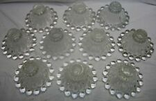 """VINTAGE SET OF 10 OF ANCHOR HOCKING  BERWICK """"BOOPIE"""" BUBBLE CANDLEHOLDERS"""