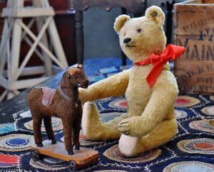 Antique Steiff Teddy Bear with Long F Button