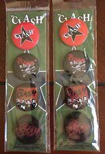 "Bundle Deal: Two The Clash Button Set of Four 1.25"""