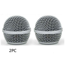2PCS New Replacement Ball Head Mesh Microphone Grille for Shure SM58 SM58S
