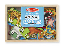 WOODEN MAGNETIC ANIMALS in a box ~set of 20  Melissa & and  Doug  Item # 475