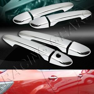 MIRROR CHROME DOOR HANDLE COVERS CAPS 8-PCS FIT 09-15 MAZDA 3/11-14 MAZDA 2