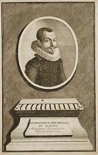 Bildnis des italienischen Archäologen Vincenzo Mirabella, 1723, Kupferstich