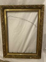ORNATE ANTIQUE GOLD GESSO 3-PART FRAME 19 X 25 Wood Frame