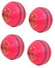League Special Pink Leather Ball Hard Inner Ball Cork Center Senior Cricket Ball