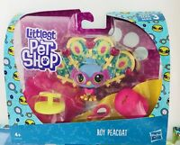 Littlest Pet Shop Premium Pets Series 3 Roy Peacoat Peacock Figure New 2018