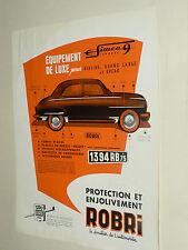 Prospectus SIMCA 9 Aronde ROBRI Non daté catalogue,brochure, prospekt catalogue
