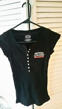 NEW Michael Collins Irish Whiskey Shirt Women's Medium with buttons in front