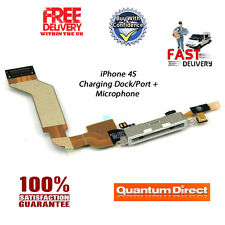 WHITE iPhone 4S Replacement 30 Pin Charging Dock Assembly + Microphone