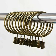 20 X   Metal Curtain Pole Clip Rings Hanging Net Chrome Brass 3.5*32mm #AM8