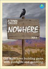 Una città chiamata da nessuna parte. Old West LA CITTà EDIFICIO BOARD GAME. SELVAGGIO WEST. WESTERN.