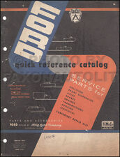 Ford Quick Reference Parts Catalog 1956 1955 1954 1953 1952 1951 1950 Book OEM
