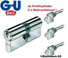 BKS8802 Profilzylinder Schließzylinder Türschloss einseitige Not-Gefahren 3Schl.