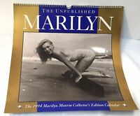 Marilyn Monroe The Unpublished Marilyn 1994 Collectors Edition Calendar