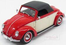 Volkswagen Beetle 1200 Cabrio Hebmueller 1949 Red White KK Scale 1:18 KK180111