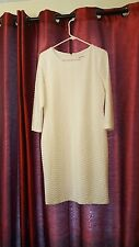 Calvin Klein White Lined Sheath Dress Rounded Neckline Hourglass Dressy Size 10