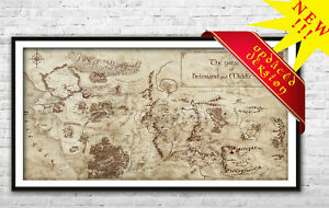 Middle Earth and Beleriand map - Fantasy map fan gift Middle Earth Wall Art