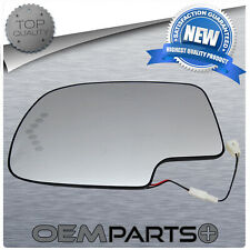 New Driver Side Mirror Heated Signal Glass With Backing Fits Chevy GMC Cadillac
