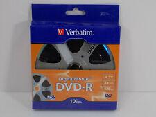Verbatim 97946 DigitalMovie DVD-Rs 120 Minute/4.7GB 8x Package Of 10