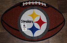 NFL Team Logo Football Rug -Pittsburgh Steelers