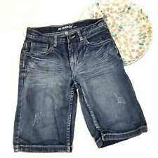 Flypaper Boys Denim Jean Shorts Size 14 Stonewashed Embroidered Flap Pockets 159
