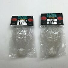 RON ENGLISH X TOYQUBE 'BOXING BRAIN' SET CLEAR EDITION VINYL FIGURE NEW