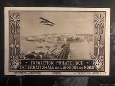 1930 Alger Algeria First Flight Postcard Cover Ffc To Casablanca Morocco