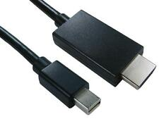 1 Metre Mini Display Port (M) to HDMI (M) Cable Black