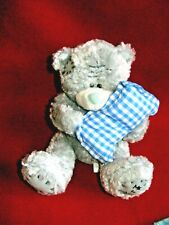 Me to You Tatty Teddy Bear Small  Beanbag Plush Gray with Blue Nose & Pillow
