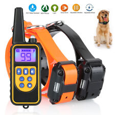 2600ft Dog Shock Training Collar Electronic Remote Control Waterproof for 2 Dog