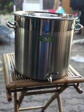 FAITOUT MARMITE GEANTE 30L inox avec robinet brassage biere cidre jus pomme pro