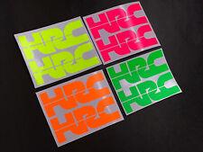 2 Honda HRC Decals Sticker Graphic Fluorescent Colours Motorbike Motorcycle Bike