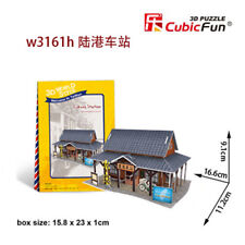 Taiwan Train Station 3D Puzzle Child Boys Girls Model Paper DIY Educational Toy