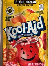 100 Kool Aid Drink Mix PEACH Mango Combined Shipping popsicle flavor Vitamin C