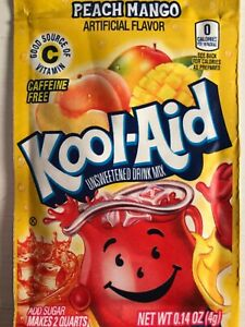 14 Kool Aid Drink Mix PEACH Mango Combined Shipping popsicle flavor party citrus