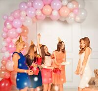 Balloon Arch & Garland Kit by Serene Selection Pink & Rose Gold for Wedding