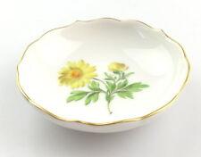 #e4253 Tolle kleine Meissen Porzellan Schale 1. Wahl mit Blume & Goldrand
