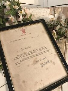 ENGAGEMENT GIFT LETTER from Buckingham Palace DIANA CHARLES 1981 Framed
