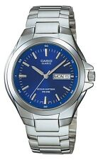 Casio MTP1228D-2A Men's Stainless Steel Blue Dial 50M Analog Day Date Watch