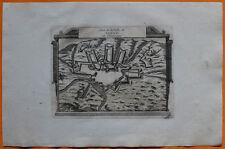 VAN DER AA Gravure originale c1725 PLAN DE SEDAN Ardennes Meuse Vauban