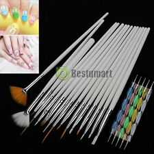 20Pcs Beauty Nail Art Design Set Dotting Painting Drawing Polish Brush Pen Tools