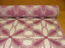 Deep Pink Chenille Curtain Upholstery Fabric, price per 1/2 meter