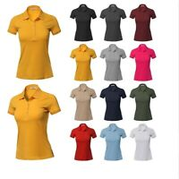 FashionOutfit Women's Basic Short Sleeve School Uniform Polo Top