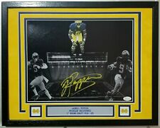Jabrill Peppers Signed Autographed 11x14 Michigan Wolverines Framed 14x18 JSA