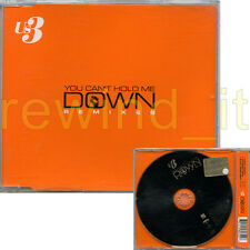 """US3 """"YOU CAN'T HOLD ME DOWN REMIXES"""" RARE CDsingle 3 TRACKS"""
