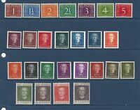 "NETHERLANDS ANTILLES #208-229  MNH & MH  ""NUMERALS & QUEEN JULIANA"""