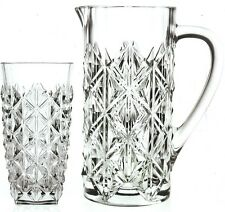 Rcr Crystal Enigma 7 Piece Jug Set 1 Crystal Luxion Carafe Jug 6 hiball glasses